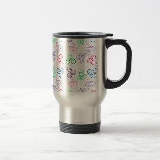 Spirals of colors travel mug