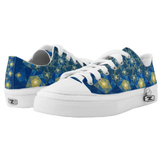 Spirals Stained Glass  Low Top Shoes
