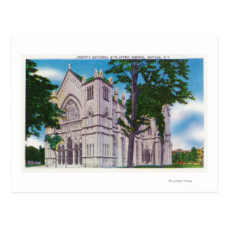 Spireless View of St. Joseph's Cathedral Postcard