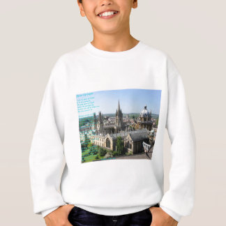 Spires of Oxford poem by: Winifried Mabel Letts Sweatshirt