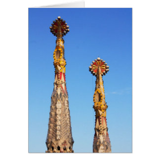 Spires of Sagrada Familia Card
