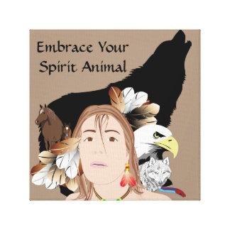 Spirit Animal   30.48cm x 30.48cm, 3.81cm Canvas Print