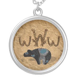 Spirit Bear Talisman Silver Plated Necklace