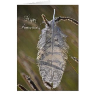 Spirit Feather Anniversary Card