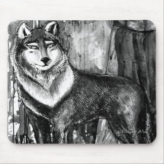 Spirit Guide Wolf Mousepad