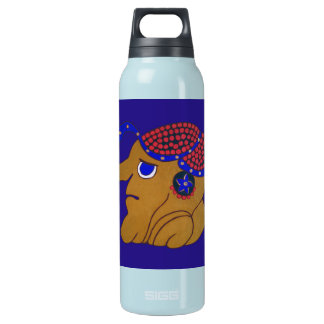 SPIRIT HURANCAN- BLUE BACKGROUND- MAYAN GOLD COAST INSULATED WATER BOTTLE