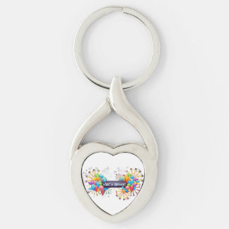 Spirit is Present twisted heart metal keychain