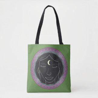 Spirit Meditation Girl Tote Bag