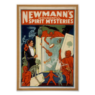 Spirit Mysteries, Vintage poster, c. 1911 Poster