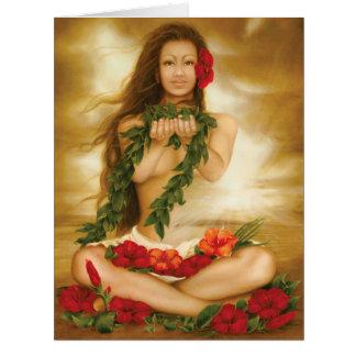 Spirit of Aloha by artist Lori Higgins 8.5x11 Card