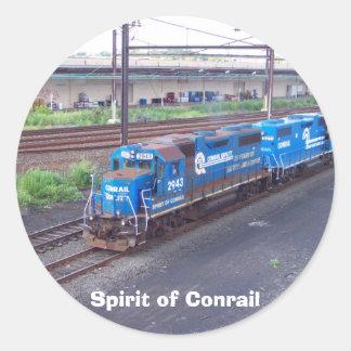 Spirit of Conrail - GP38 - PRR #2943 in Blue Paint Classic Round Sticker