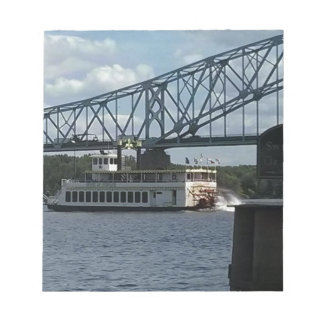 Spirit of Dubuque on Mississippi River Notepad