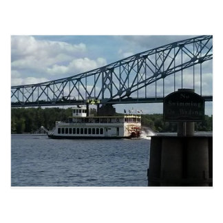 Spirit of Dubuque on Mississippi River Postcard
