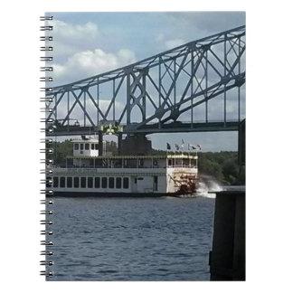 Spirit of Dubuque on Mississippi River Spiral Notebook