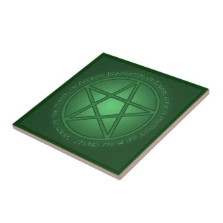 Spirit of Earth Pentacle Tile