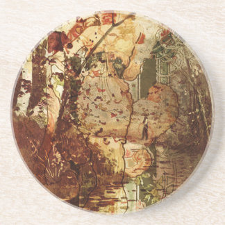 SPIRIT OF FALL AND THE FISHERMAN BEVERAGE COASTERS