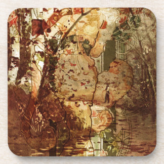SPIRIT OF FALL AND THE FISHERMAN DRINK COASTER