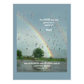 Spirit of Fear Inspirational Bible Scripture Postcard