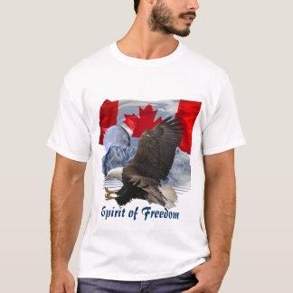 SPIRIT of FREEDOM Bald Eagle, Moon & Mountains Art T-Shirt