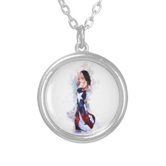 Spirit of Puerto Rico Silver Plated Necklace