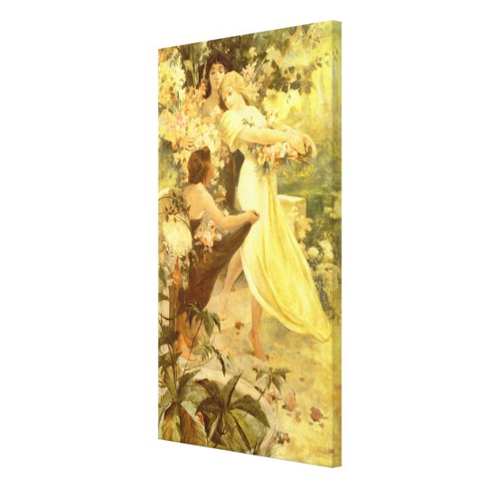 Spirit of Spring by Alphonse Mucha Canvas Print