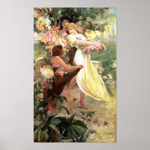 Spirit of Spring by Mucha Fine Art Print