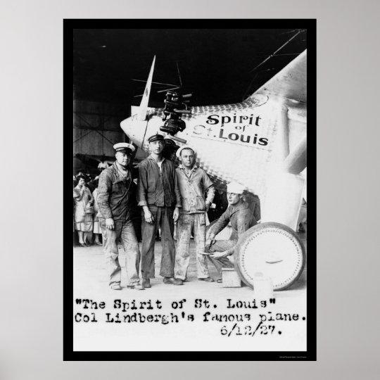 Spirit of St. Louis Airplane 1927 Poster