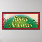 Spirit of St. Louis Cigar Label Poster