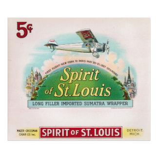 Spirit of St. Louis Vintage Cigar Label Detroit Art Photo