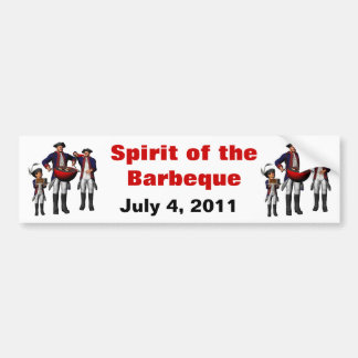 Spirit of the BBQ Bumper Sticker