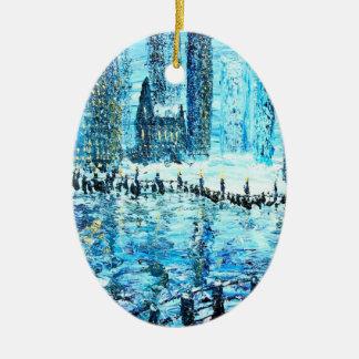 Spirit of the city ceramic ornament