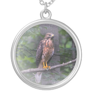 Spirit of The Hawk Silver Plated Necklace