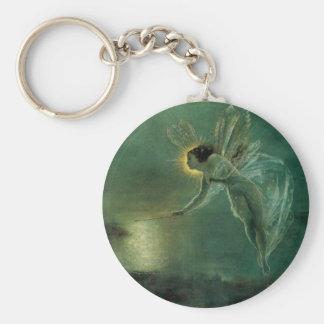 Spirit of the Night by Grimshaw, Victorian Fairy Basic Round Button Keychain