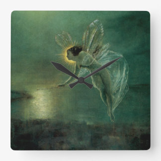 Spirit of the Night by Grimshaw, Victorian Fairy Square Wall Clock