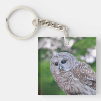 Spirit Of The Owl Double-Sided Square Acrylic Keychain