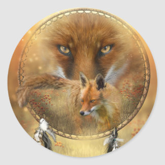 Spirit Of The Red Fox Art Sticker