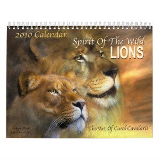 Spirit Of The Wild - Lions 2010 Calendar