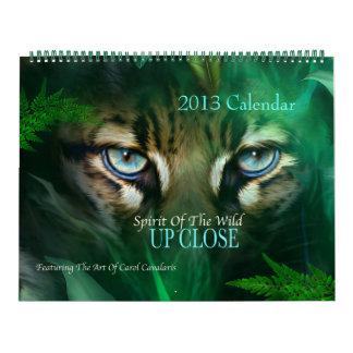 Spirit Of The Wild - Up Close Art Calendar 2013