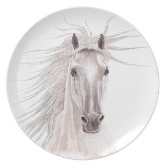 Spirit of the Wind Horse -vintage- Dinner Plates