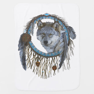 Spirit of the Wolf Receiving Blankets