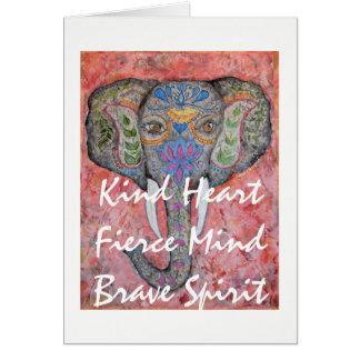 Spirit Painted Elephant Art Greeting Card