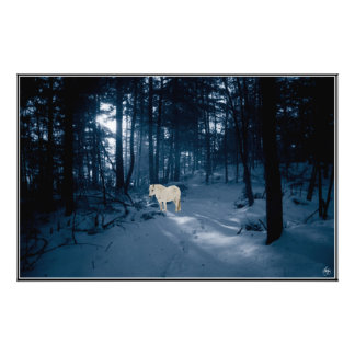 Spirit Pony in a Blue Wood  Open Ed. Print
