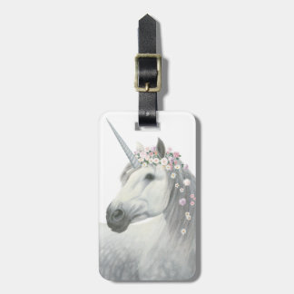 Spirit Unicorn with Flowers in Mane Luggage Tag