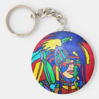 Spirit Warrior 1 by Piliero Basic Round Button Keychain