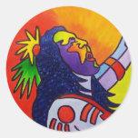 Spirit Warrior by Piliero Round Stickers