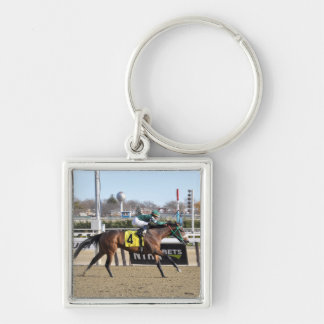 Spirits Let's Hearit & Angel Arroyo Silver-Colored Square Keychain