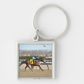 Spirits Lets Hearit Silver-Colored Square Keychain