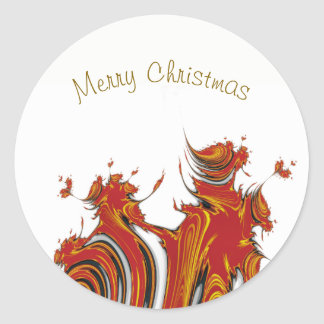 SPIRITS OF CHRISTMAS CLASSIC ROUND STICKER