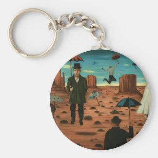 spirits of the flying umbrellas basic round button keychain