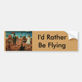 spirits of the flying umbrellas bumper sticker
